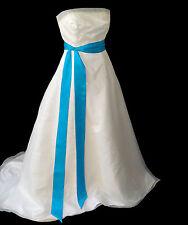 "Vestido De Fiesta 3""x120"" Cinta de Raso Elegante Boda Faja Cinturón Moño Banda Dama De Honor"