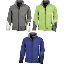 Mens Result Work Guard Blade 3 Layer Softshell Waterproof Jacket Top