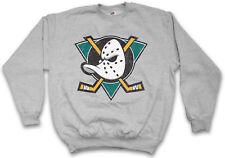 Ducks Hockey Sweatshirt Pull symbole Sign équipe the Mighty Logo Mask bat Stick
