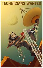 Technicians Wanted NASA Kosmos Poster