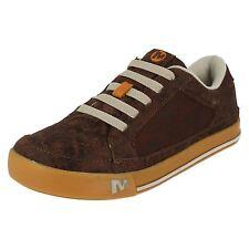 Merrell Brown Leather Kids Zapatos skyjumper Brash j95511