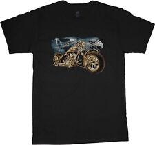 big and tall t-shirt eagle chopper biker tee shirt tall shirts for men