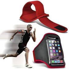 QUALITY Sports Fascia Da Braccio Corsa Palestra Allenamento Cintura Cinghia Telefono Custodia Cover ✔ Rosso