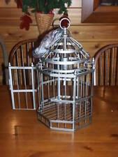 Ballard Designs Dasia Hanging Pendant Light Gray Large birdcage lamp chandelier