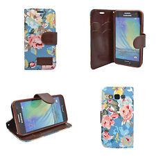 funda clásica Vaqueros Cartera Teniente azul multi Flor para Samsung Galaxy A5
