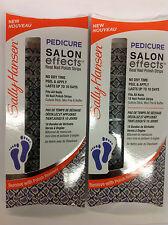 4 X Sally Hansen Pedicure Salon Effects Real Nail Strips Snake, Rattle & Roll.