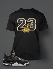 23 T Shirt to Match Air Jordan 4 Royalty Shoe Black Graphic Tee Gold Dollar