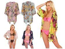 Womens Open Kaftan Tunic Top Cover Up Kimono Beachwear Cardigan Ladies Size 6-16