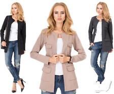 Damen Blazer Jacke in 3 Farben mit Taschen Gr. S M 36 38, M203