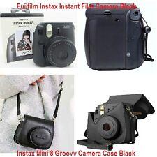 Fujifilm Instax Instant Film Camera Mini 8 Groovy Camera Case Black Tote Strap