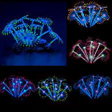 Silicone Glowing Artificial Fish Tank Aquarium Coral Plants Ornament Water Decor