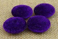 50 Pcs Velours Tissu Tissu Couvert 2 Trous Solide Couture Scrapbooking Artisanat
