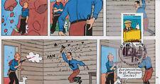 """TIN07-12 Pli """"100 ans Hergé Tintin et Milou"""" Guebwiller"""