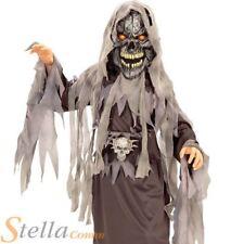 Boys Evil Eye Skull Costume Light Up Halloween Fancy Dress Ghost Horror Outfit