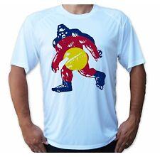 Colorado Flag Bigfoot Sasquatch yeti Fishing Upf 50 T-Shirt Sport Uv Protection