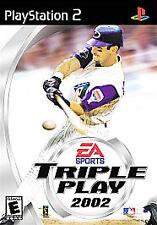 Triple Play 2002 (PS2), Baseball,  PlayStation2, Playstation 2 Video Games