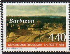 N°2970 - Les chaumières de Barbizon - Détail du tableau de Díaz de la Peña - Neu