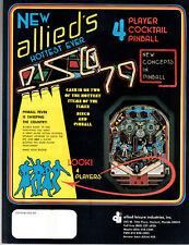 DISCO '79 Original Pinball Flyer ALLIED LEISURE 1979