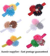 Baby / young girl Shabby Ribbon dressy Headband Christening Photo Prop gift chic