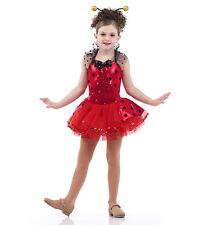 Ladybug Dance Costume Ballet Tutu Jazz Child XS, 6X7, CL, CXL