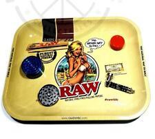 Raw Bikini Girl Metal Smoking Tray Premium Rolling Tray Available in 2 Sizes