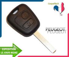 Coque Télécommande Plip Bouton Peugeot SW 406 Boxer Partner Expert + Cle vierge