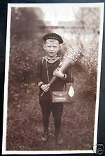 **1920's GERMAN SAILOR BOY~1st DAY IN KINDERGARDEN ! RPPC