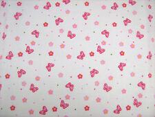 Butterfly Pink Polycotton Children Prints Dress Fabrics  FREE P+P SOLD PER METRE