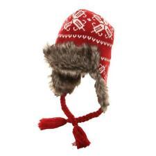 Adults Unisex Peru Hat With Faux Fur Trim 3 Colours One size