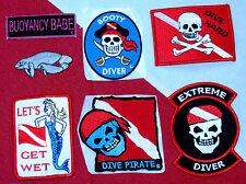 scuba patch diving equipment novelty fun gift snorkeling jacket beach oceandiver