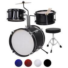 3pcs Junior Kids Drum Kit Home Talent Practice Bass Snare Stool Boys Girls Gift