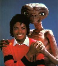"MICHAEL JACKSON & E.T. WALL POSTER RETRO ET THRILLER JACKO 8X8"" 20X20"" 30X30"""