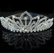 Corona Tiara Diameda de Diamante en Platiado Para Novia de Boda Casamiento