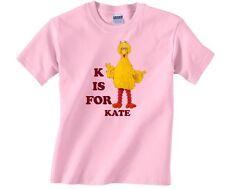 Sesame Street Big Bird ABC Personalized Custom Shirt.  Add Your Name