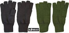 Mens Military Army Combat Fingerless Half Finger Fingerless Gloves Black Green