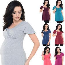 Purpless 2in1 maternité et Allaitement Haut En Coton En Manches Courtes T-shirt