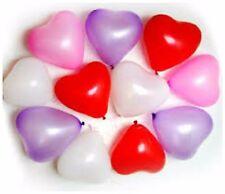 100 ❤ MIX CUORE LATEX PALLONCINI LOVE Ragazza Compleanno San Valentino