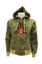Felpa da uomo beige verde Element Yukon cappuccio manica lunga zip polsino moda