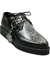 Nevermind Creep / Creeper Schuh Rockabilly Schwarz Mini Leopard Weiß #5000