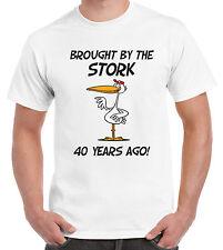 Portati dalla CICOGNA 40 anni fa 40TH Compleanno T-Shirt-Regalo