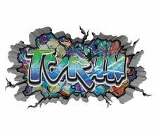 3D Wandtattoo Graffiti Turan   Aufkleber Junge Boy Name Wand sticker 11U1543