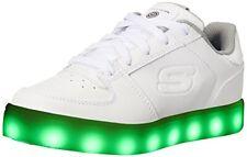 Skechers Kids Boys Energy Lights Sneaker, White