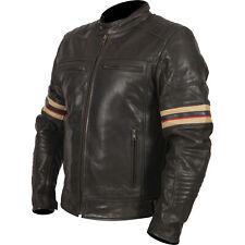 Weise Detroit cuir noir vintage retro urban Veste moto
