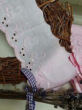 """Arcos de cinta y encaje ~ ~ 3""""/75mm Rosa Bebé en encaje inglés ajuste del cordón plano de algodón"""