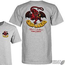 "POWELL PERALTA ""Caballero Dragon II"" Skateboard T-Shirt GREY S M L XL Tee Cab"