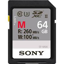 Sony SDHC/SDXC Class10 U3 4K UHS-II Memory Card Read 260MB/s Write 100MB/s