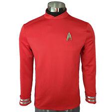 Cosplay Star Trek Beyond Spock Science Officer Uniform Shirt Men's Red Costume