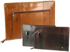 Visconti Buffalo Leather Zip Around Folio A4 Document Holder Folder Case - ML26