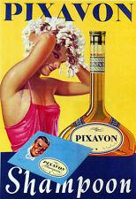 Salon Shampoo Blond Girl Washing Hair Pixavon Vintage Poster Repro FREE S/H