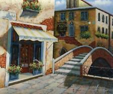 The Bridge Original Oil Painting European Street Scene